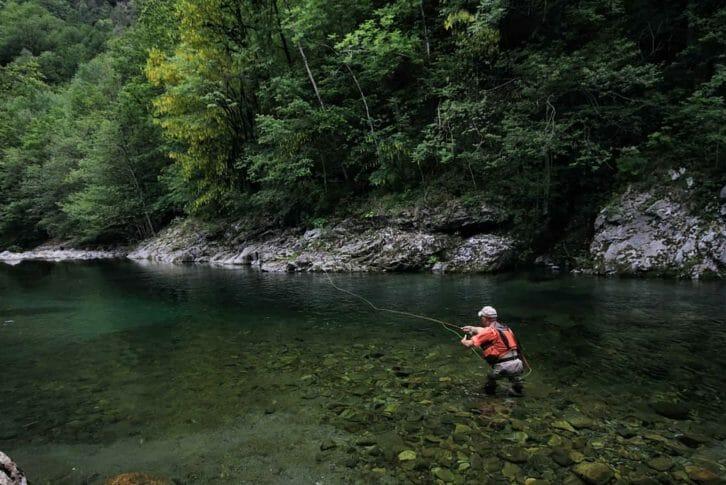 11Fly fishing on the River Tara