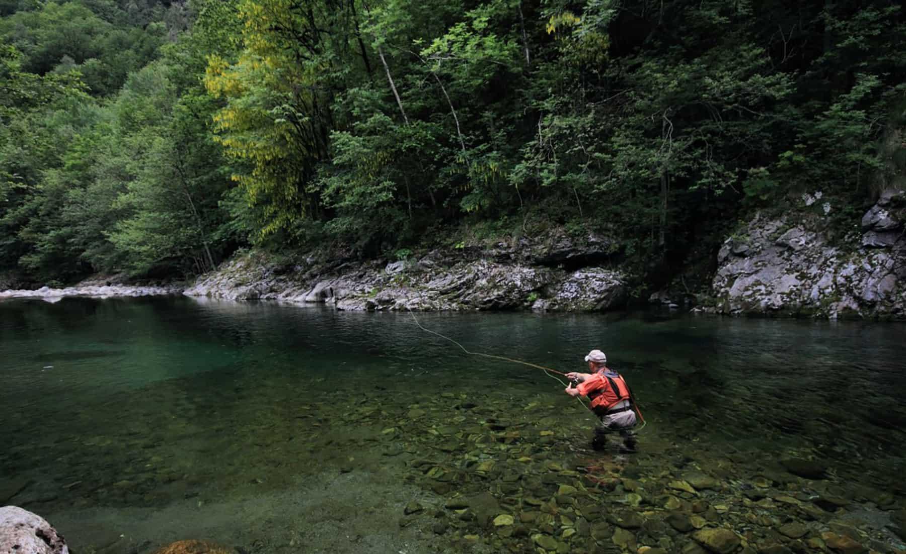 Fly fishing on the River Tara