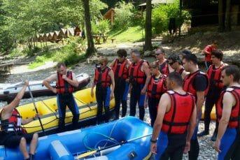 Preparation before rafting adventure begins, Brštanovica