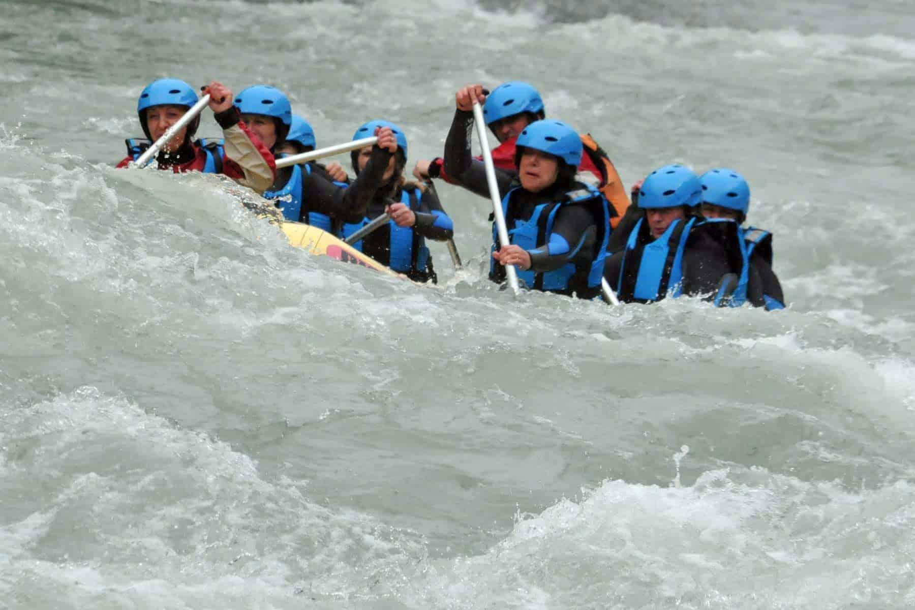 Whitewater rafting at Brstanovica