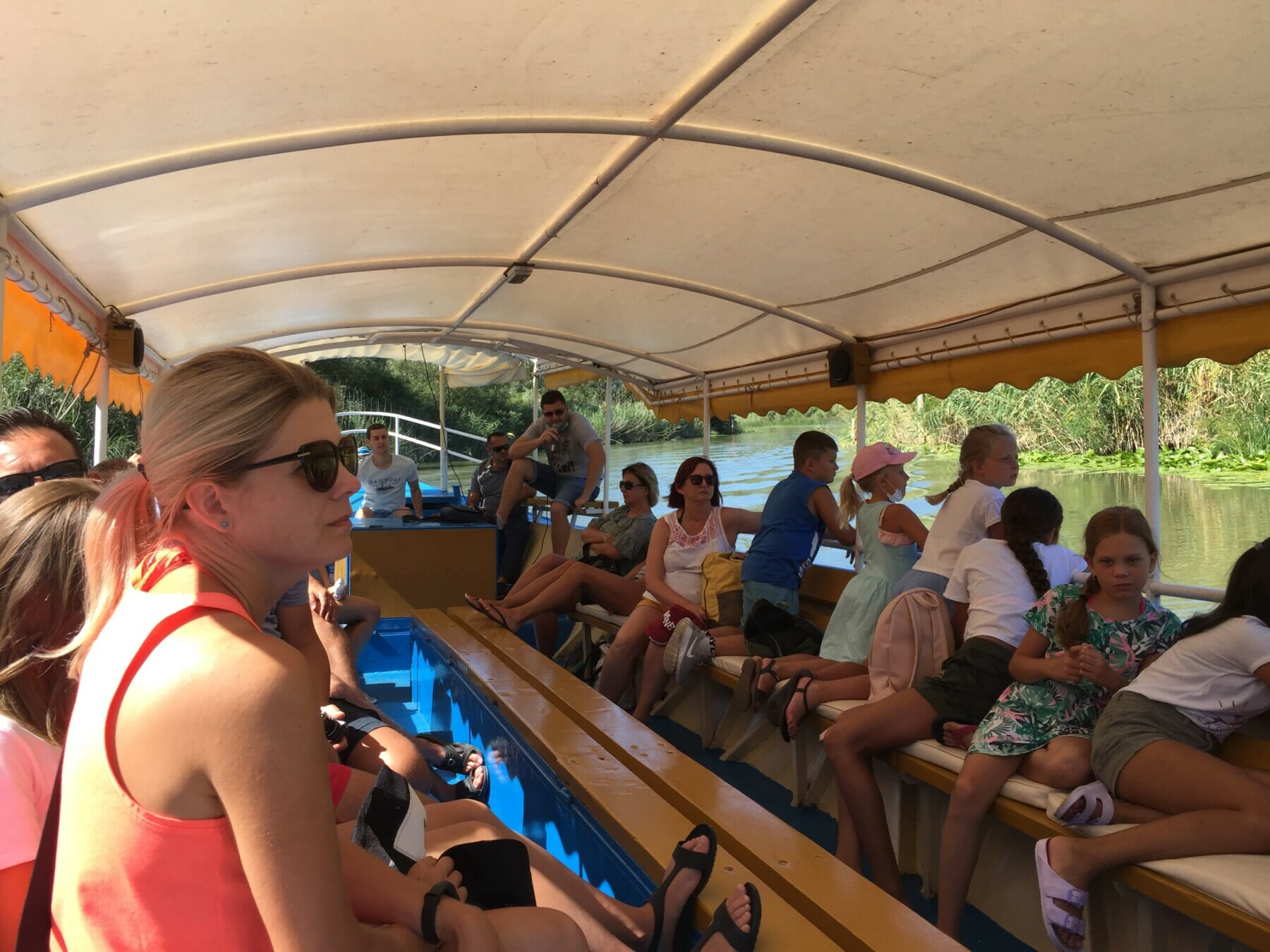 Boat with tourists on the Skadar Lake, Montenegro