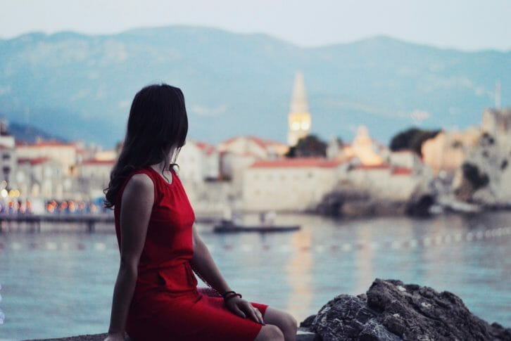 11A girl overlooking Budva Old Town