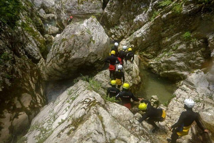 11Group of tourists exploring Nevidio Canyon, Montenegro