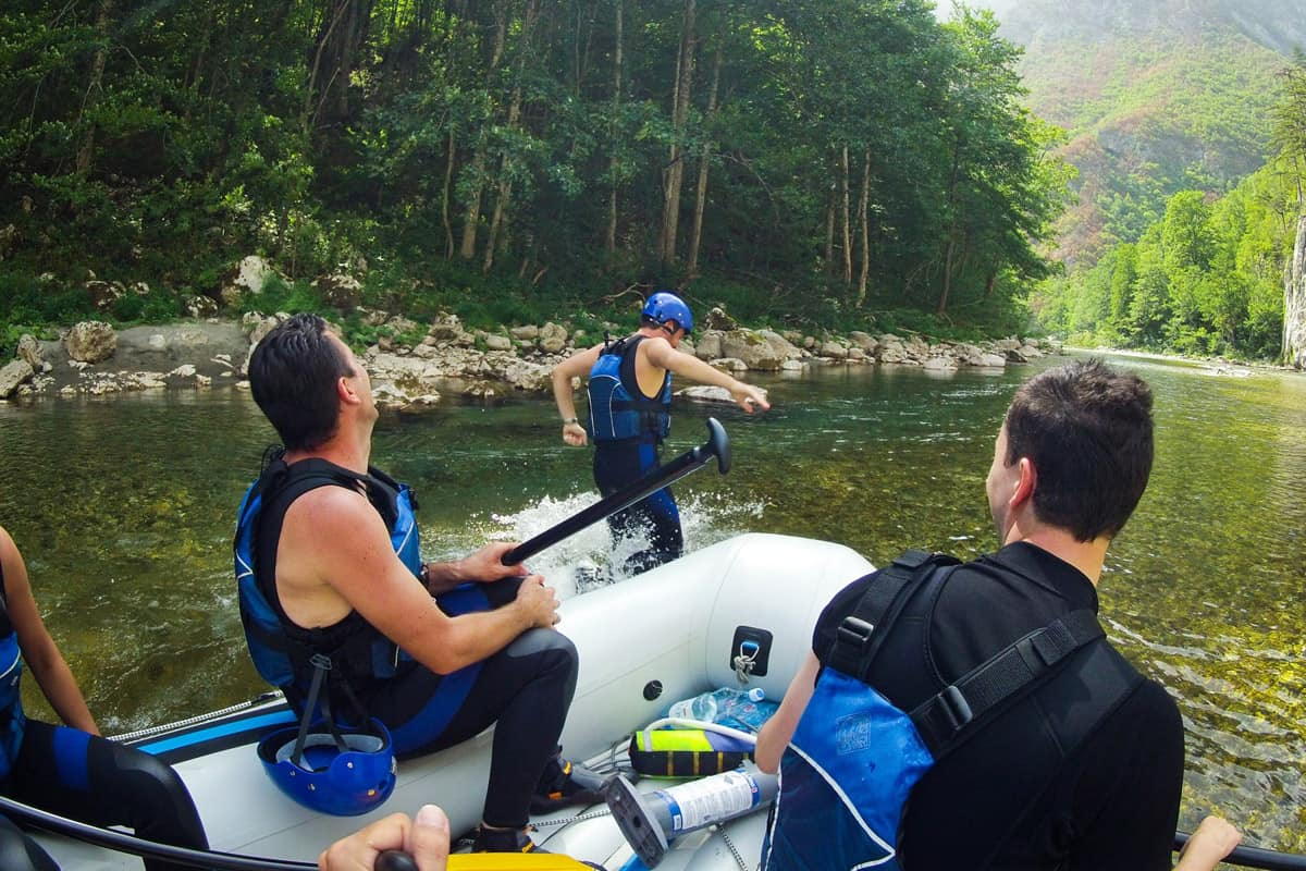 11People enjoy rafting Tara, Montenegro