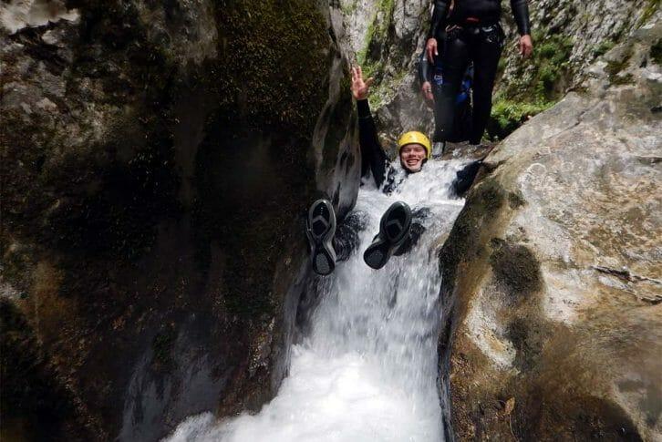 11Slide down water, Nevidio Canyoning