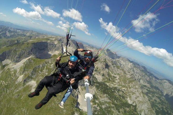 11Flying over mountains - paragliding, Savin Kuk