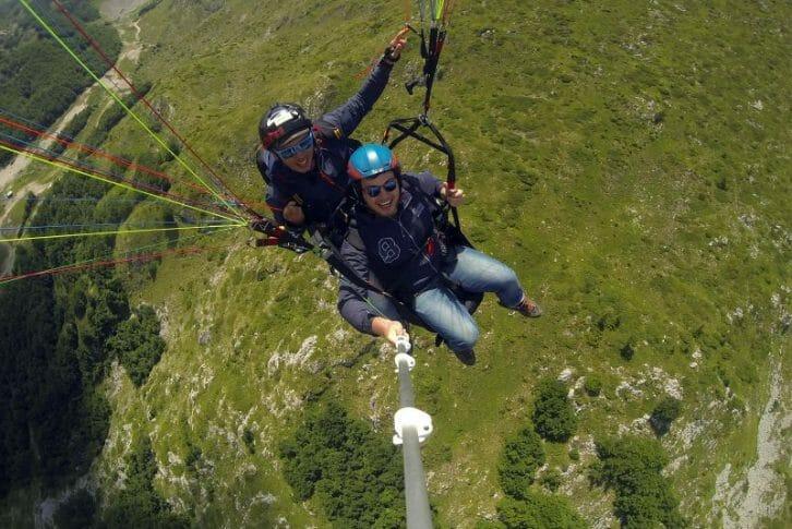 11Grass from above take off tandem paragliding, Savin Kuk