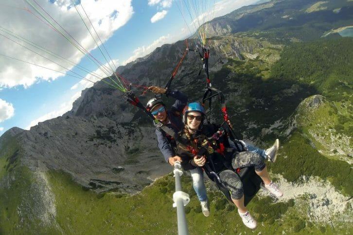 11Stunning mountains background tandem paragliding Savin Kuk