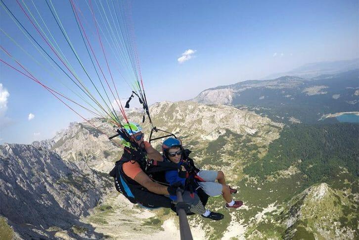 11Tandem paragliding, Montenegro