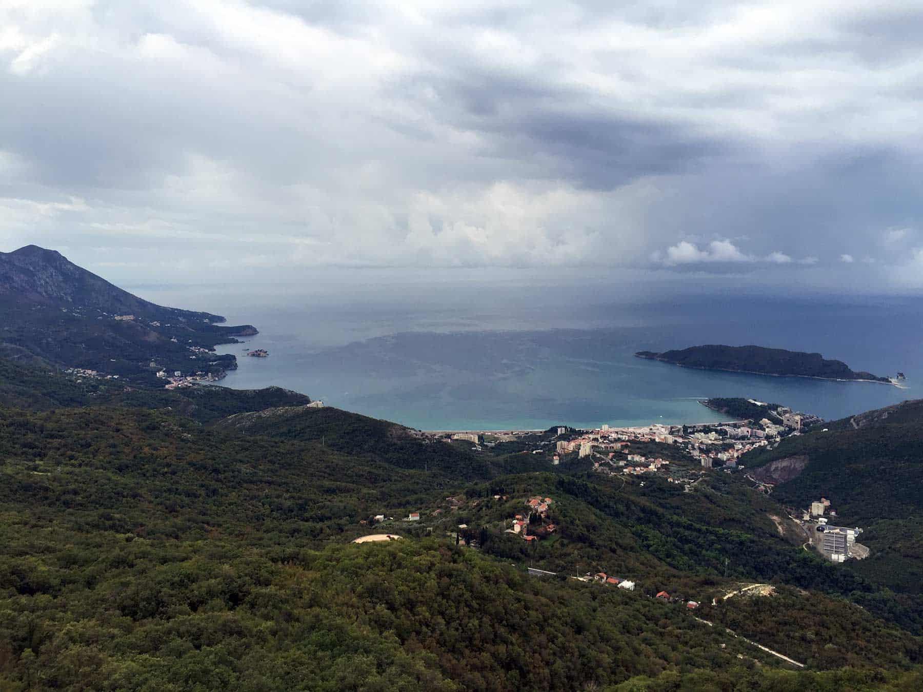 View on Bečiće, Montenegro