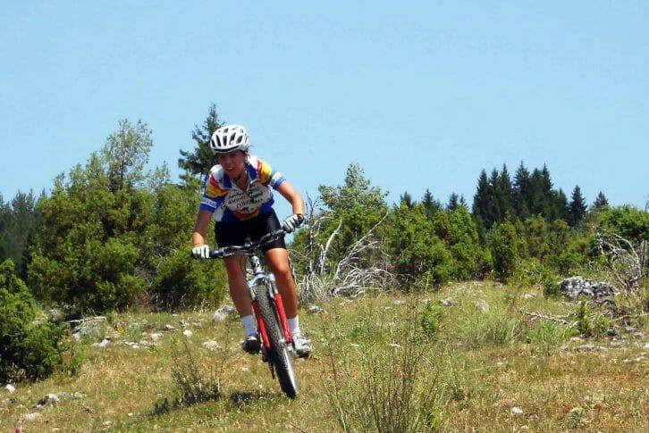 11Girl biking Kosanica over the mountain