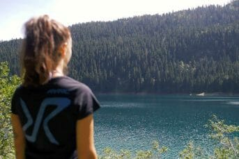 Girl watching at Black Lake