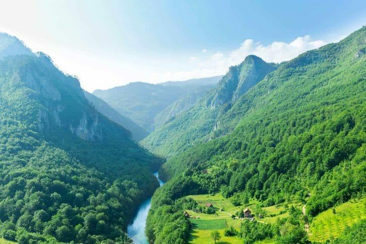 11Tara Canyon with beautiful blue sky