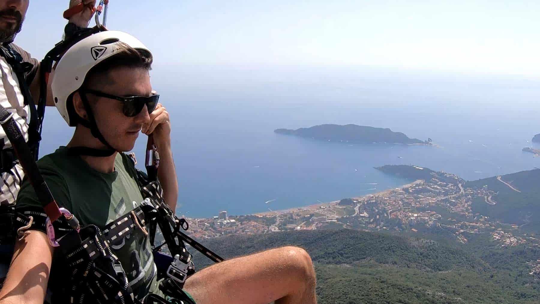 Paragliding Budva, amazing view