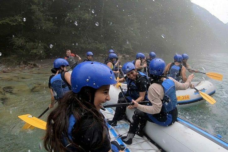 11Rafting Tara splashing and laughing