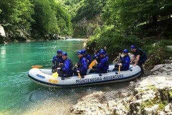 The start point for rafting Šljivansko