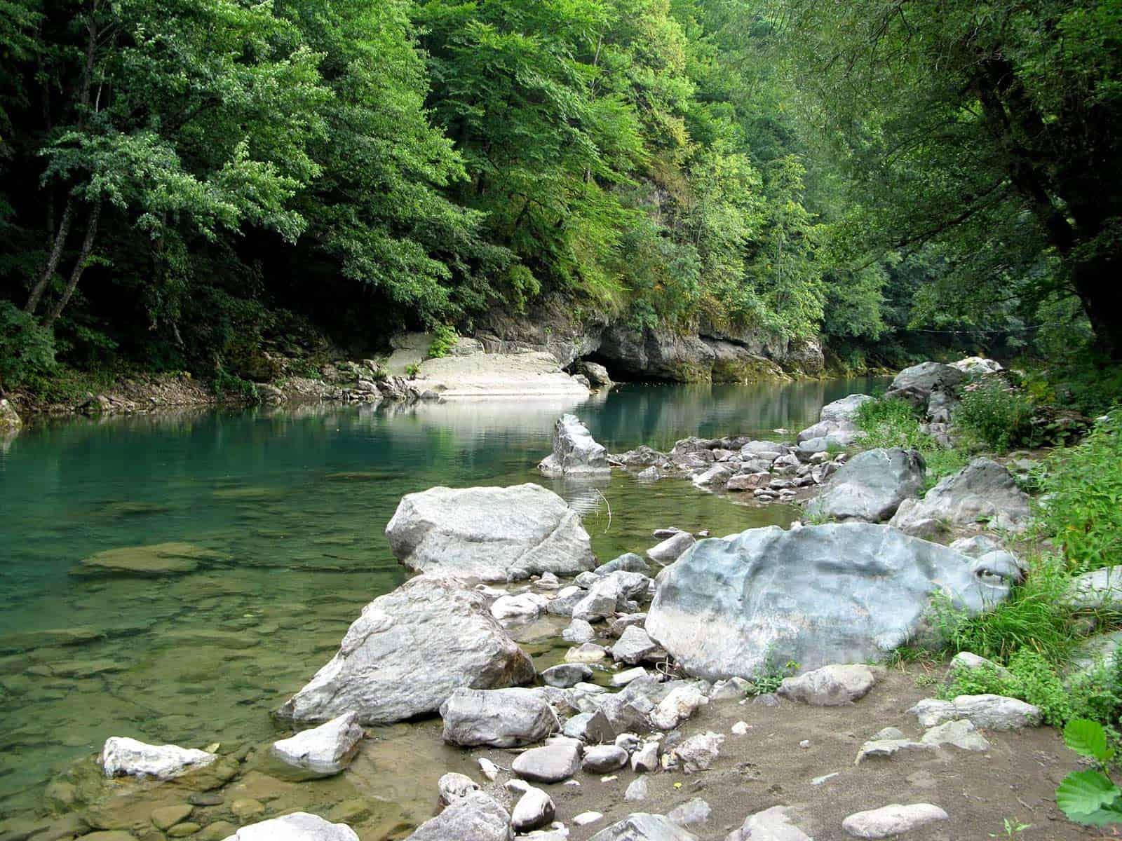 Beautiful view of the tara river