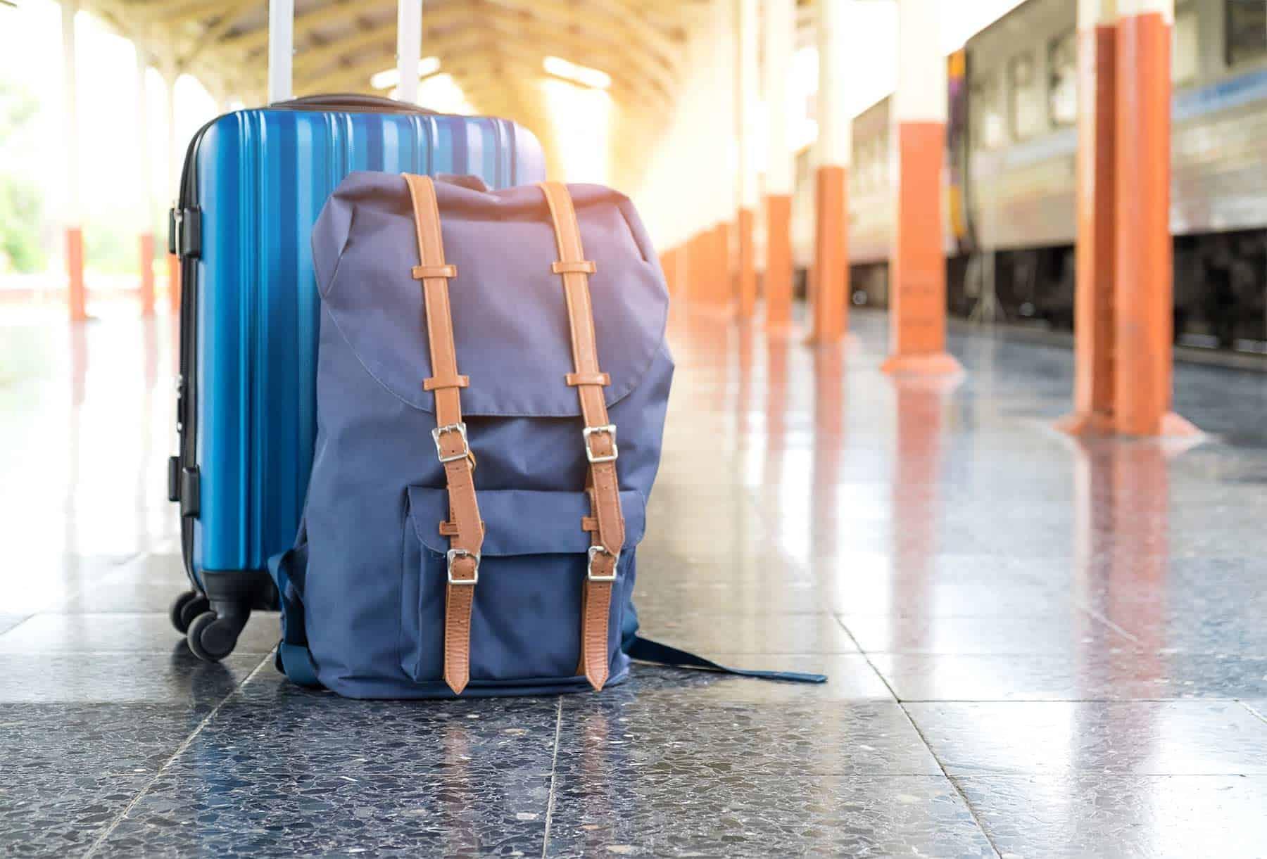 Travel luggage on the platform