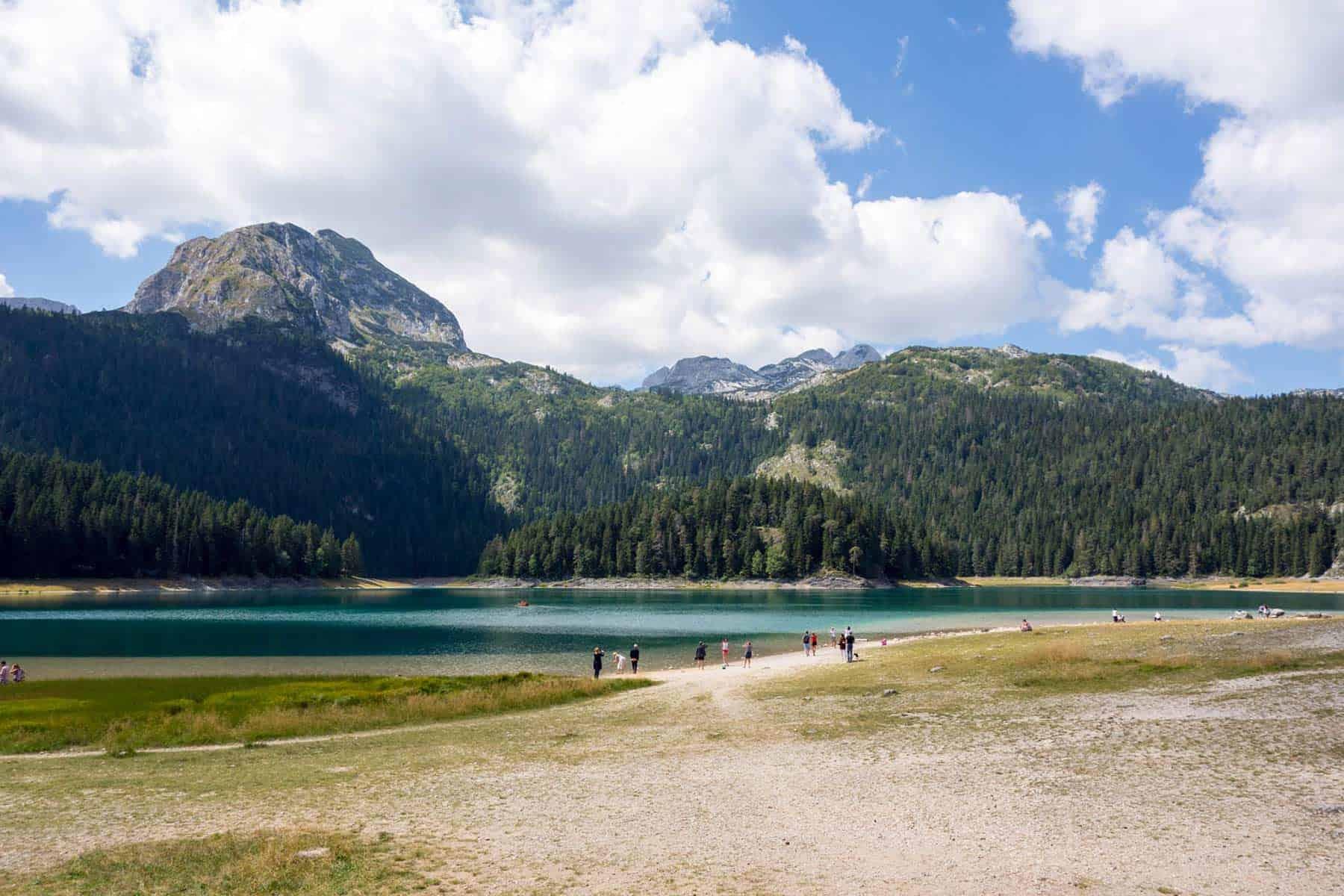11People enjoy beautiful nature and air, Black Lake Montenegro