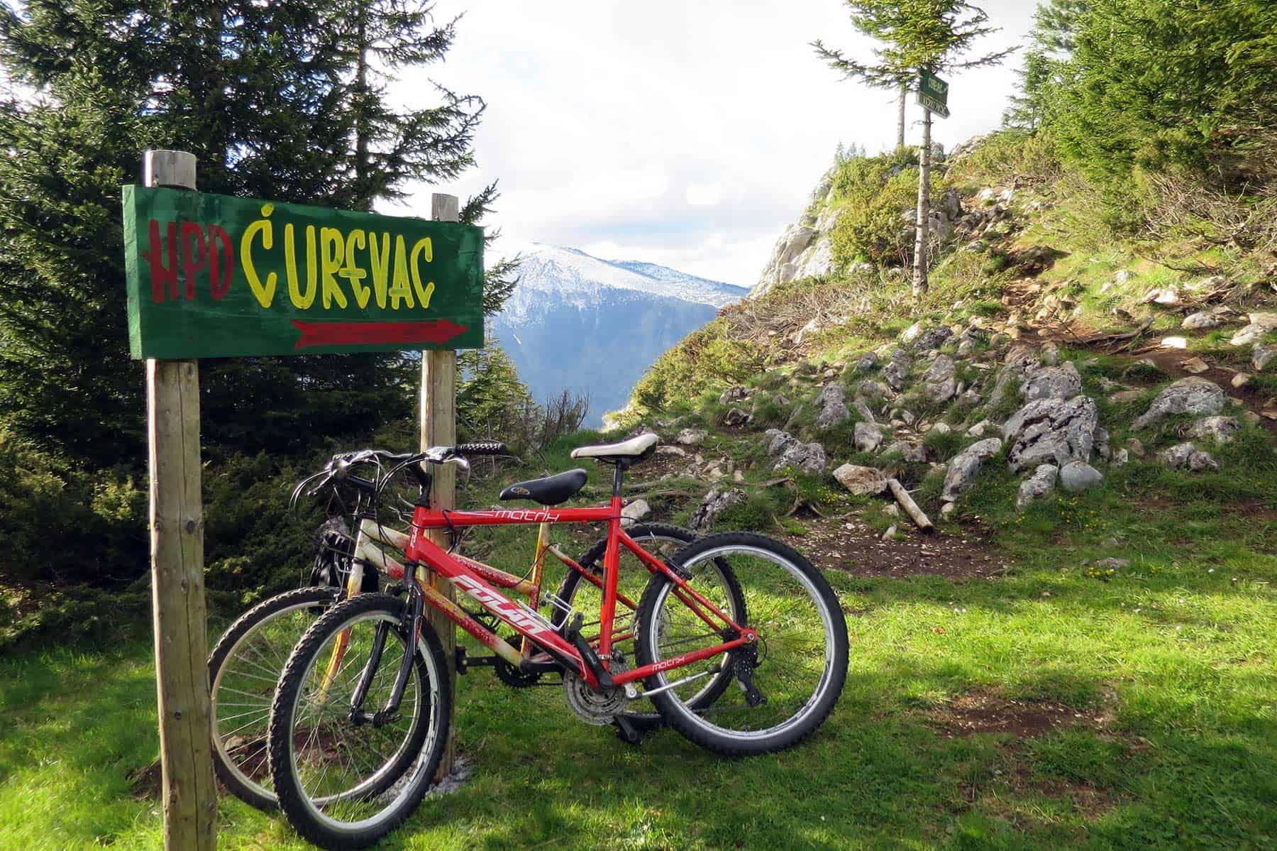 Biking on Ćurevac viewpoint