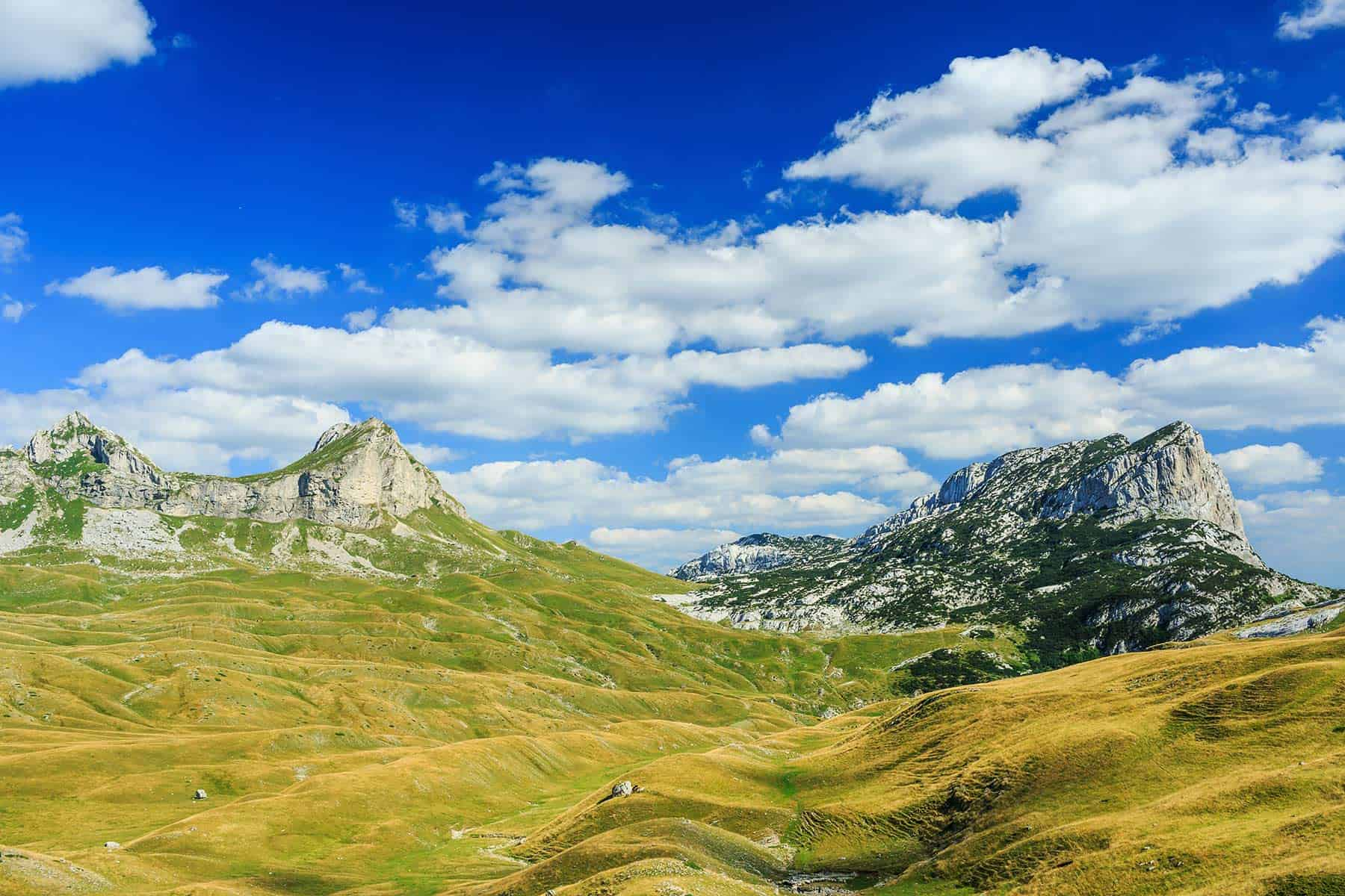 Mountains in the national park Durmitor