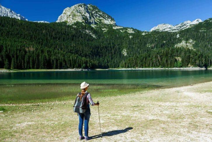 11Hiker enjoying the view at the Black Lake