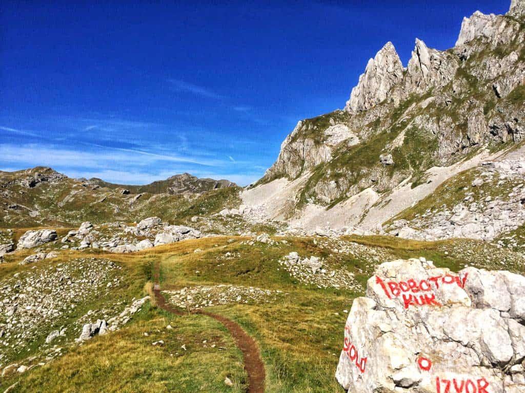 Durmitor mountain and Bobotov Kuk starting area for hiking