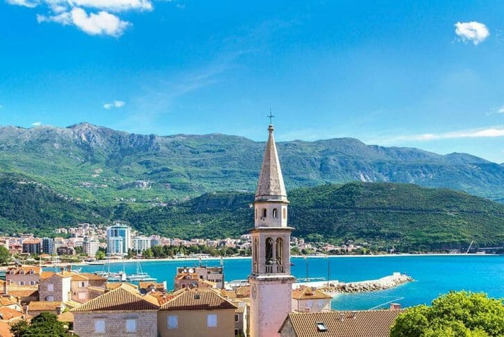 11Budva beachfront rooftop view in Montenegro