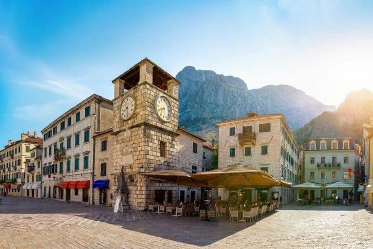 11Clock tower in Kotor old town in Montenegro