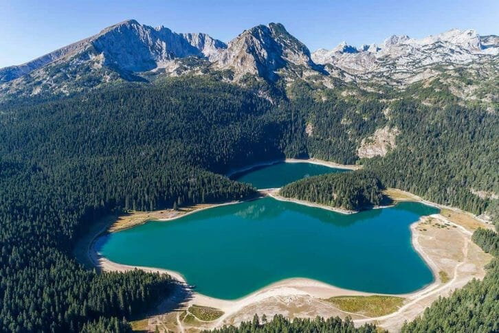 11Areal view of the Black Lake at Durmitor National Park