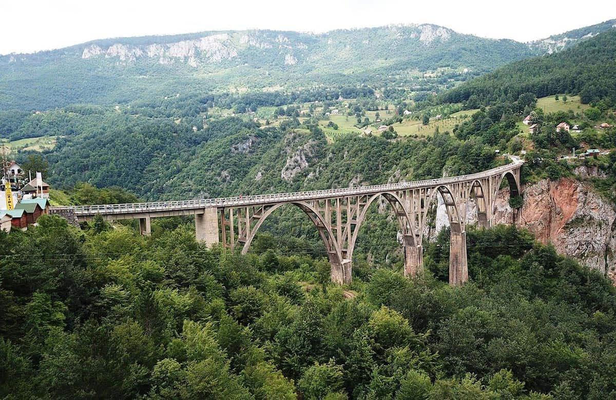 Tara Djurdjevica bridge in Durmitor National Park