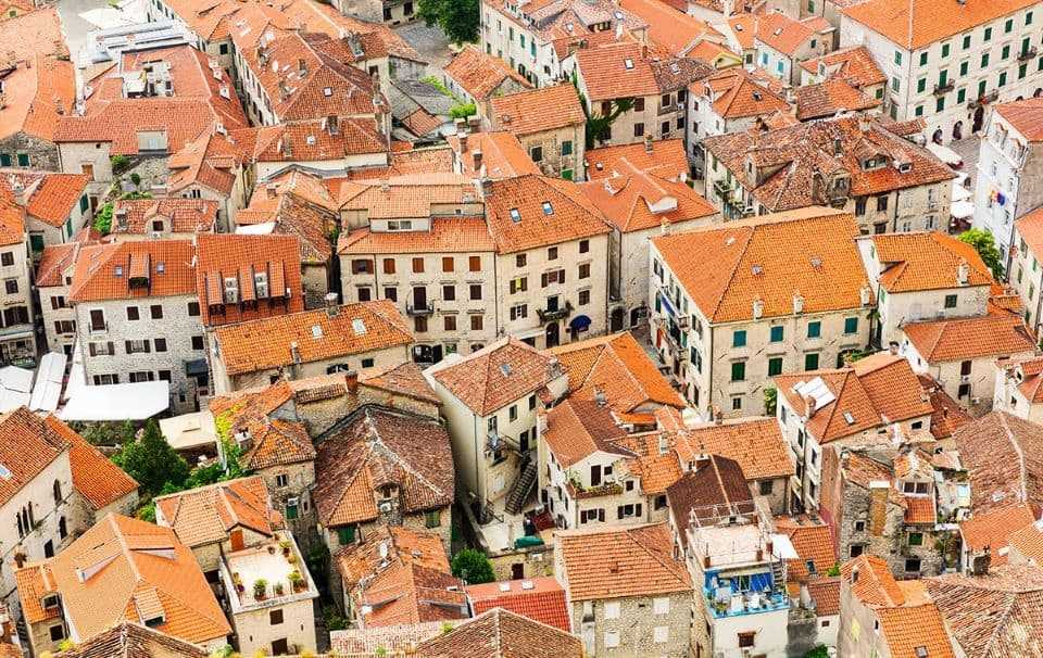 Old Town roofs in Kotor