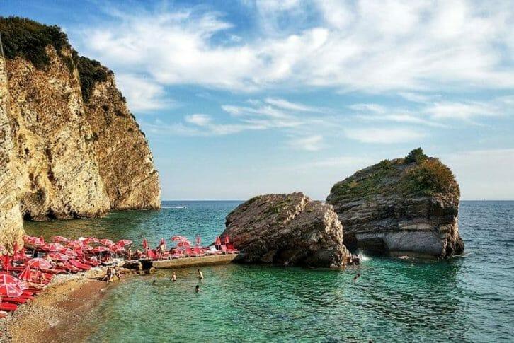 11People enjoying the Mogren beach in Montenegro
