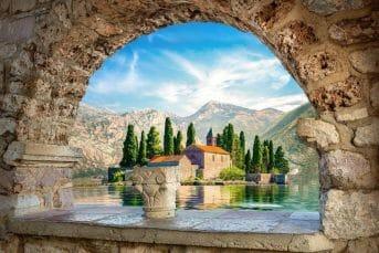 View of Saint George Island Montenegro