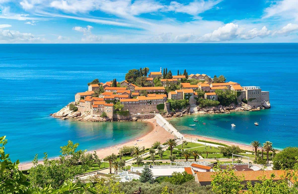 Gorgeous view of Sveti Stefan in Budva
