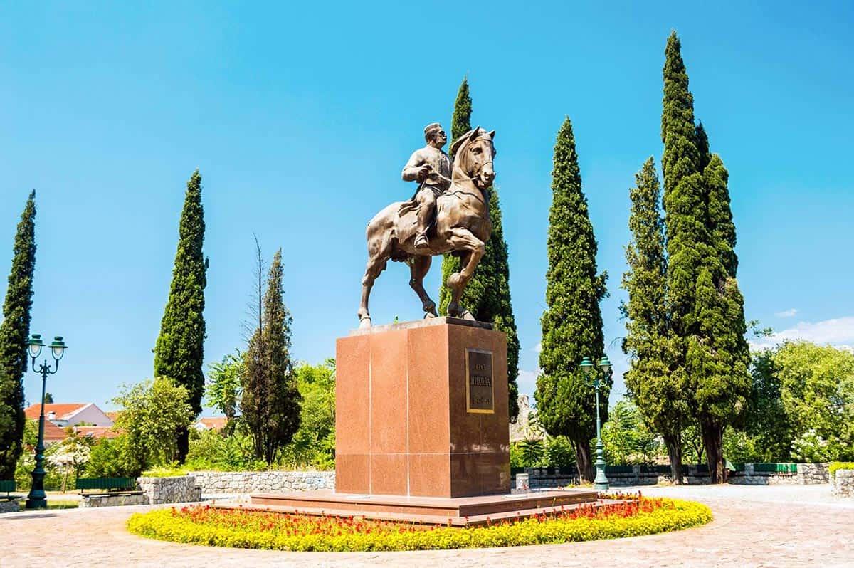 King Nikola statue in Podgorica