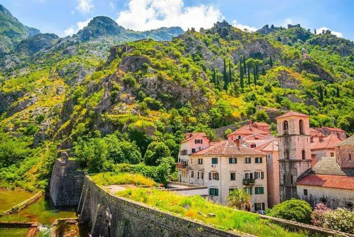 11Stunning green hills behind Kotor town walls
