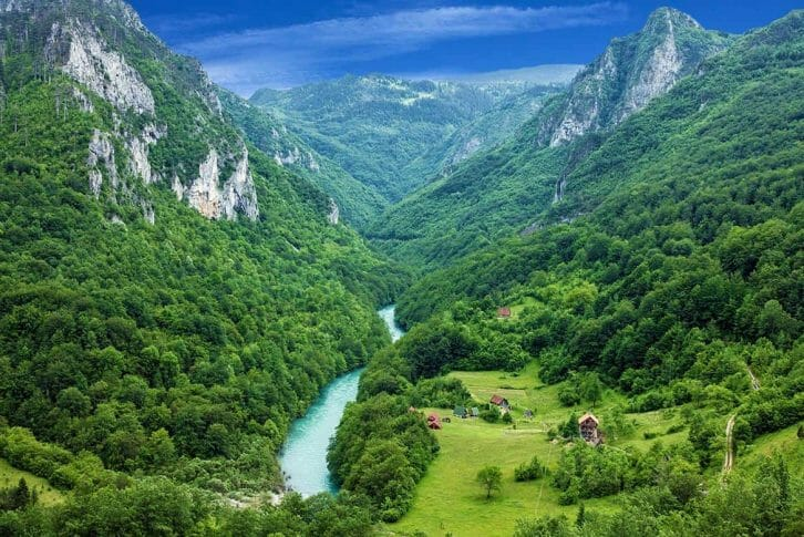 11Canyon Tara river surrounded by gorgeous mountains and forest