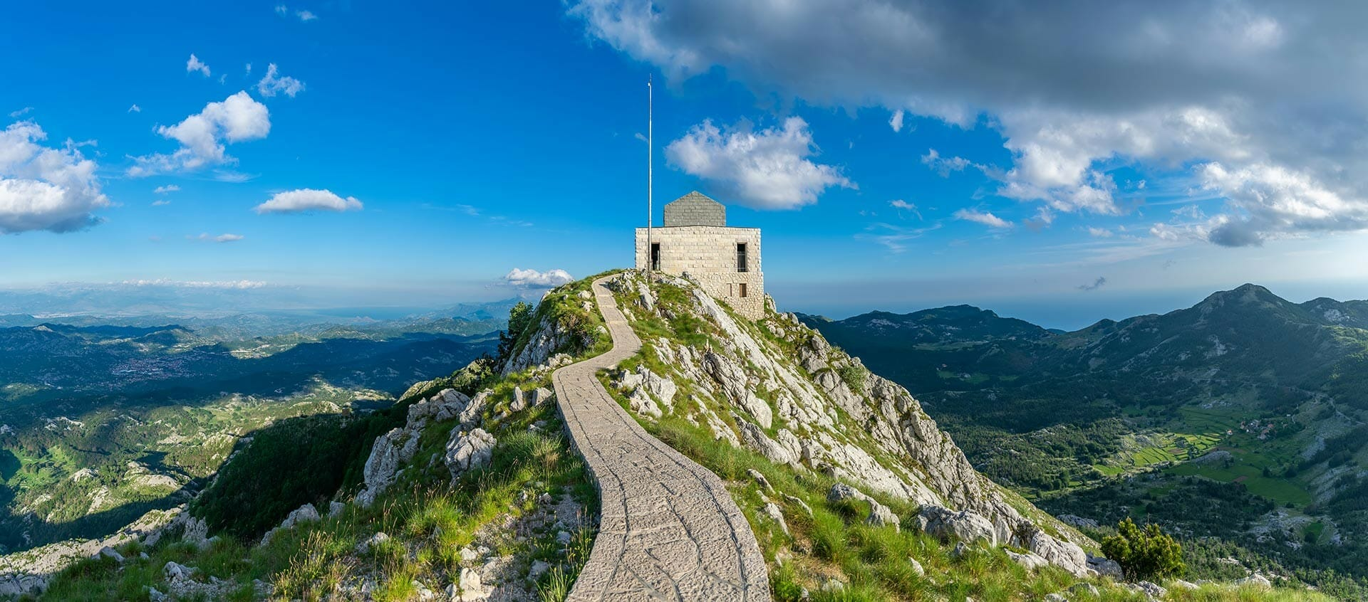 Njegosh Mausoleum top high picturesque view