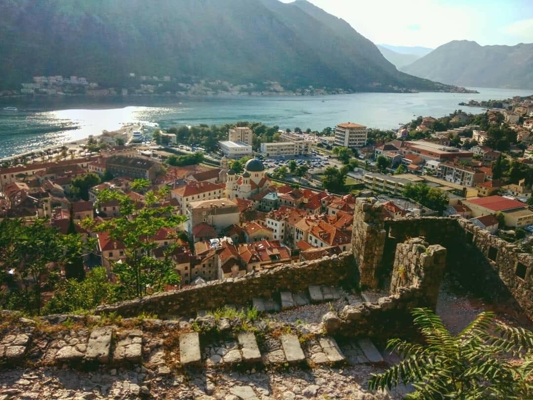 kotor fortress bay of kotor Montenegro