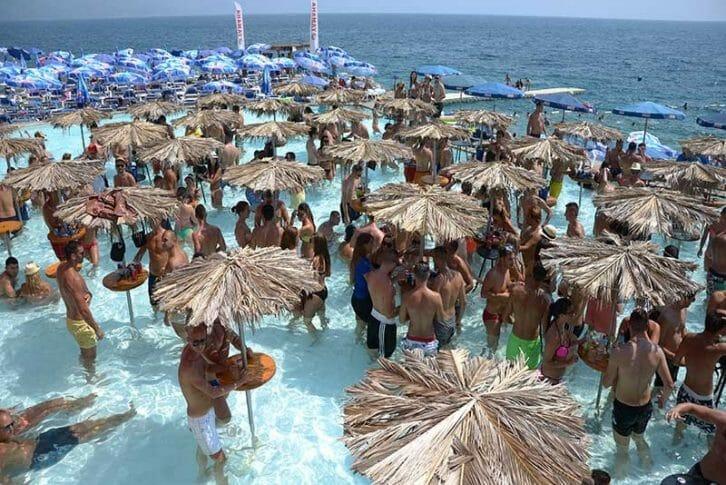11Day party on famous Ploce Beach near Budva Montenegro