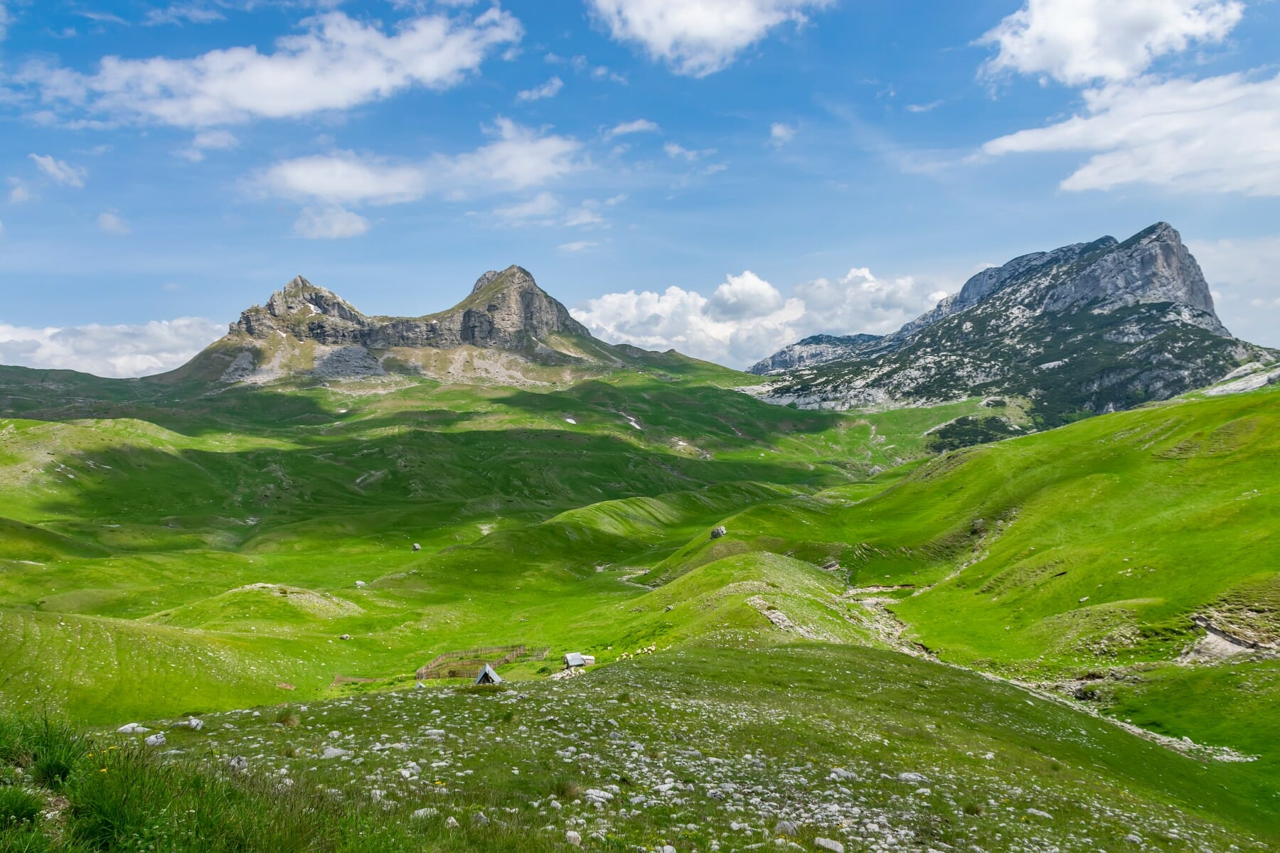 Them mountain pass Sedlo on Durmitor in Northern Montenegro