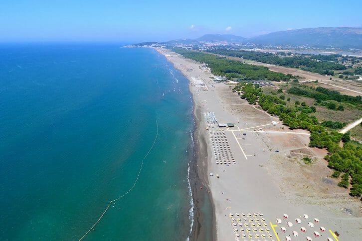 11Long beach and Adriatic Sea Ulcinj Montenegro