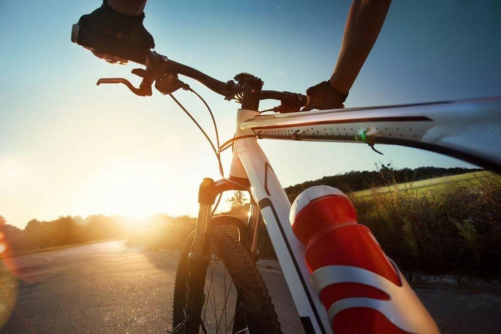 Biking Konavle Valley at sunset