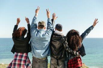 friends having fun hands in the air Montenegro Adventure
