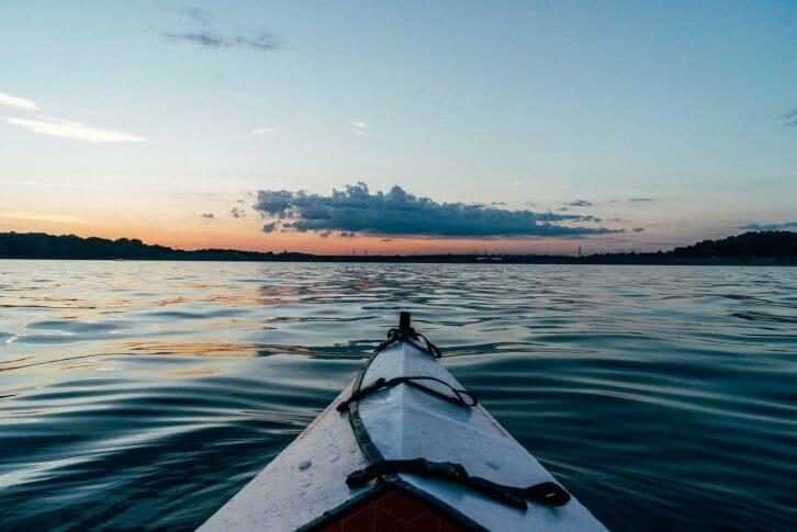 11Sunset kayaking on Adriatic Sea Montenegro