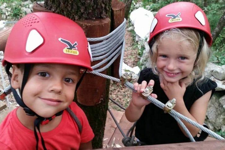 11Kids enjoy on Zip Line on Adventure Park at Konavle