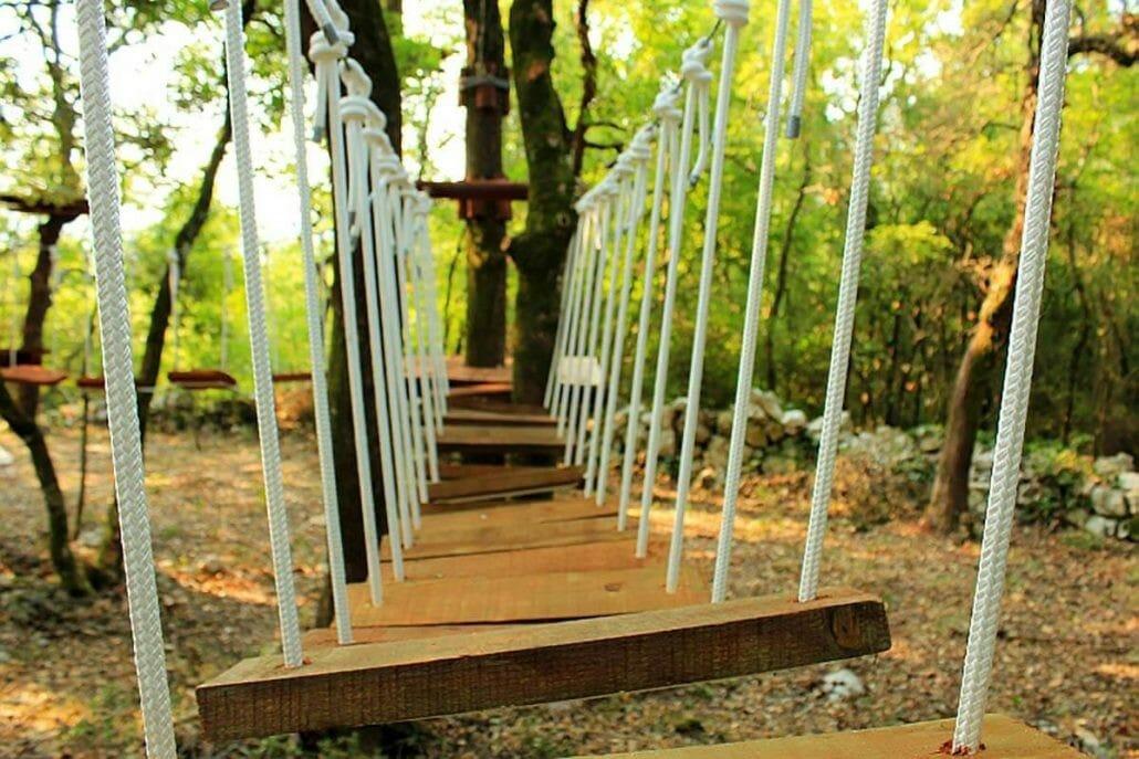 Go steps on Adventure Park at Konavle