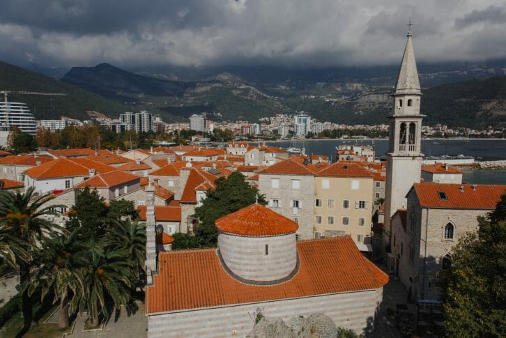 11Top view to Old town Budva in Montenegro