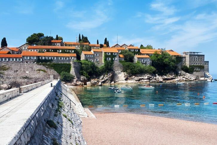 11Sveti Stefan Peninsula in Montenegro